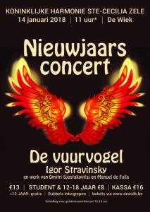 Nieuwjaarsconcert - De Vuurvogel @ De Wiek | Zele | Vlaanderen | België